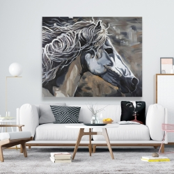 Canvas 48 x 60 - Side of a wild horse