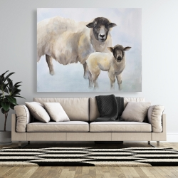 Canvas 48 x 60 - Sheep and its baby