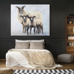 Canvas 48 x 60 - Sheep family
