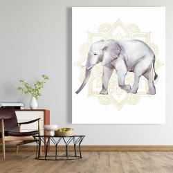 Canvas 48 x 60 - Elephant on mandalas