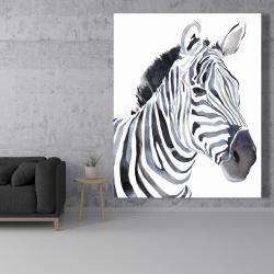 Canvas 48 x 60 - Watercolor zebra