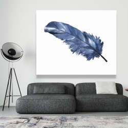 Canvas 48 x 60 - Blue feather