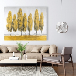 Canvas 48 x 60 - Abstract yellow trees