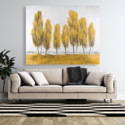 Canvas 48 x 60 - Seven abstract yellow trees