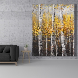 Canvas 48 x 60 - Sunny birch trees