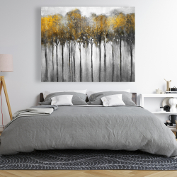Canvas 48 x 60 - Abstract yellow forest