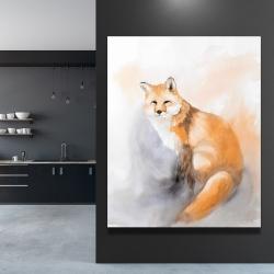 Canvas 48 x 60 - Watercolor fox