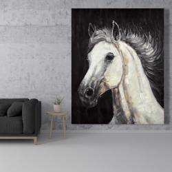 Canvas 48 x 60 - White star horse