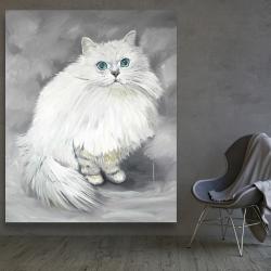 Canvas 48 x 60 - Chinchilla persian cat