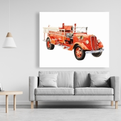 Canvas 48 x 60 - Vintage fire truck