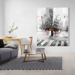 Canvas 48 x 60 - Greyish flatiron building
