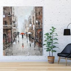 Canvas 48 x 60 - City rain
