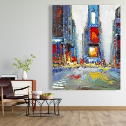 Canvas 48 x 60 - Abstract and colorful buildings