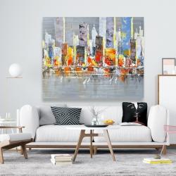 Canvas 48 x 60 - Color splash cityscape