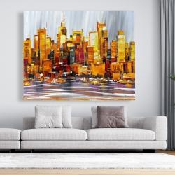 Canvas 48 x 60 - Orange buildings