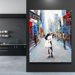 Canvas 48 x 60 - Kiss of times square