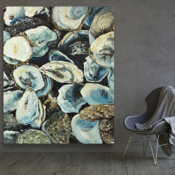 Canvas 48 x 60 - Oyster shells