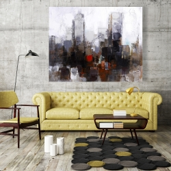 Canvas 48 x 60 - Obscure city