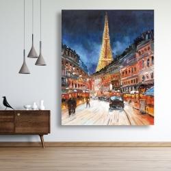 Canvas 48 x 60 - Illuminated paris