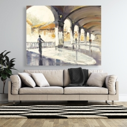 Canvas 48 x 60 - People in a spacious hall
