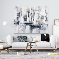 Canvas 48 x 60 - Industrial style sailboats