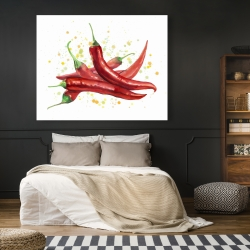 Canvas 48 x 60 - Red hot peppers