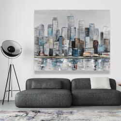 Canvas 48 x 60 - Abstract urban skyline