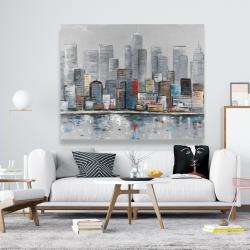 Canvas 48 x 60 - Abstract city skyline
