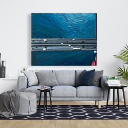 Canvas 48 x 60 - Overhead view of traffic on the golden gate