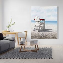 Canvas 48 x 60 - White beach chair