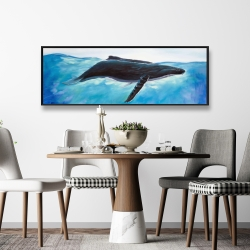 Framed 16 x 48 - Blue whale