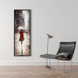 Framed 16 x 48 - Quiet walk in the rain