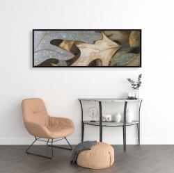 Framed 16 x 48 - Autumn leaves