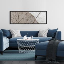 Framed 16 x 48 - Translucent dried leaves