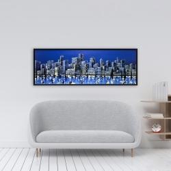 Framed 16 x 48 - City in blue