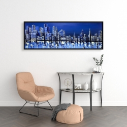 Framed 16 x 48 - Blue skyline