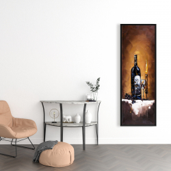 Framed 16 x 48 - Candlelit wine