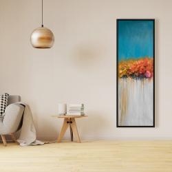 Framed 16 x 48 - Orange flowers bundle