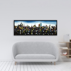 Framed 16 x 48 - Colorful buildings