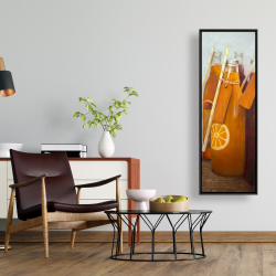 Framed 16 x 48 - Orange summer drinks