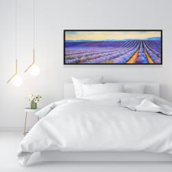 Framed 16 x 48 - Lavender fields