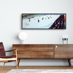 Framed 16 x 48 - Game of hockey
