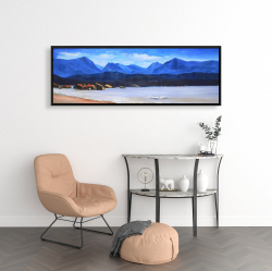 Framed 16 x 48 - Scotland calm eddies