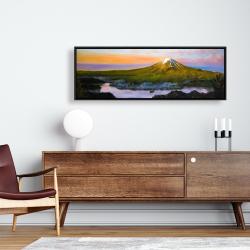 Framed 16 x 48 - Mount fuji landscape