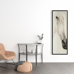 Framed 16 x 48 - Half portrait of a peaceful horse
