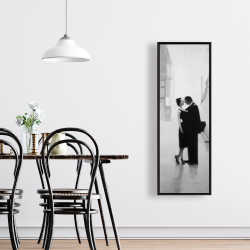 Framed 16 x 48 - Couple in the street