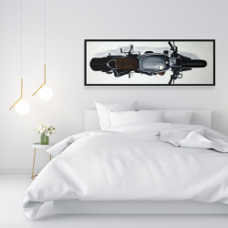 Framed 16 x 48 - Overhead view of a motorbike