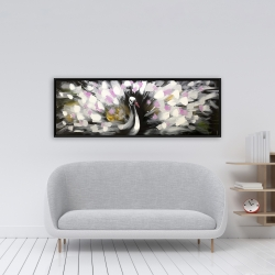 Framed 16 x 48 - Beautiful spotted peacock