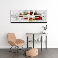 Framed 16 x 48 - Abstract intertwining shapes