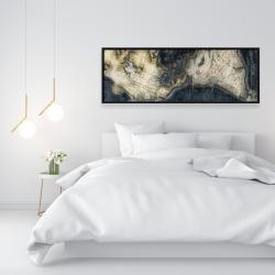 Framed 16 x 48 - Old world map